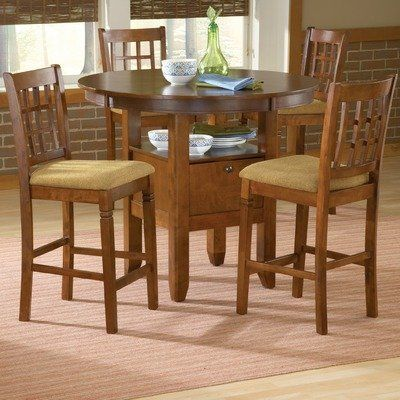 Espresso Round 5pc Pub Set   4 Chairs By Bernards. $559.64. Height 36.