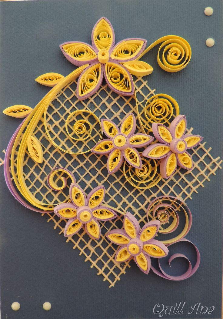 floral arrangement quilled by quill ana floral