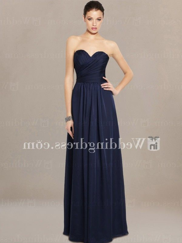 modern bridesmaid dresses_Navy