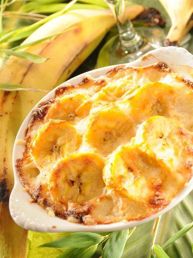 Gratin de bananes jaunes (bananes plantain) - Recette de cuisine Marmiton : une recette