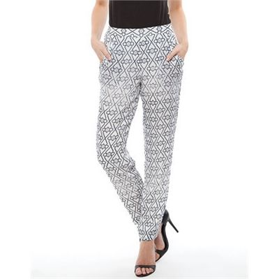 Wish Mosaic Pants Pants Available in Storm Print - Fashion Brand Sale