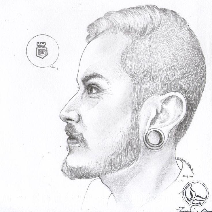 Y ese es él... 💚 @r9steve // #illustration #drawing #sketch #portrait #profile #blackandwhite #grafito #pencil #pencildrawing #love #gift #happyboy #atlnacional #atleticonacional #campeón #verdolaga