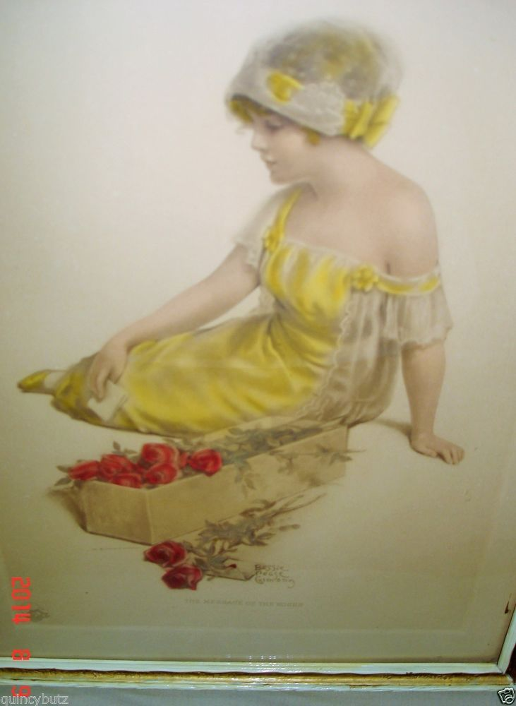 Children S Calendar Ideas : Antique bessie pease gutmann message of the roses framed