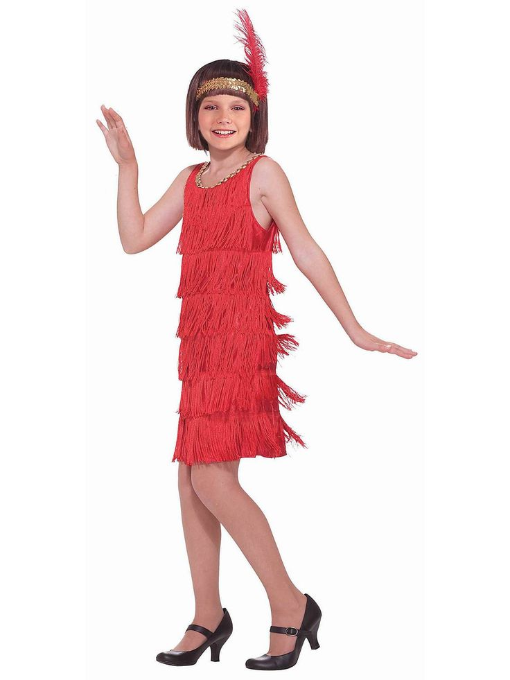 Red Flapper Costume | Wholesale 20s Costumes for Girls
