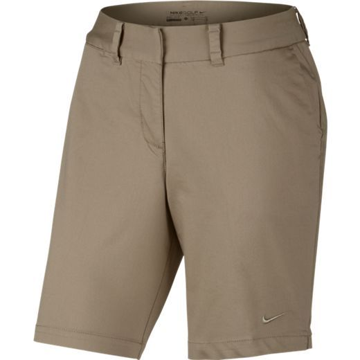 Khaki Nike Ladies Washed Bermuda 2.0 Golf Shorts