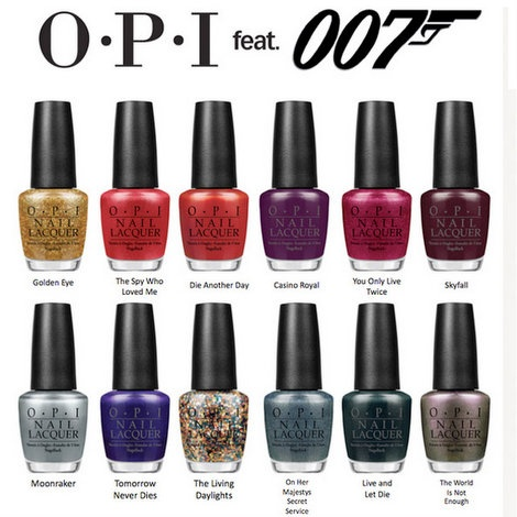 Barbie's Beauty Bits:OPI has released a nail polish line inspired by the James Bond series