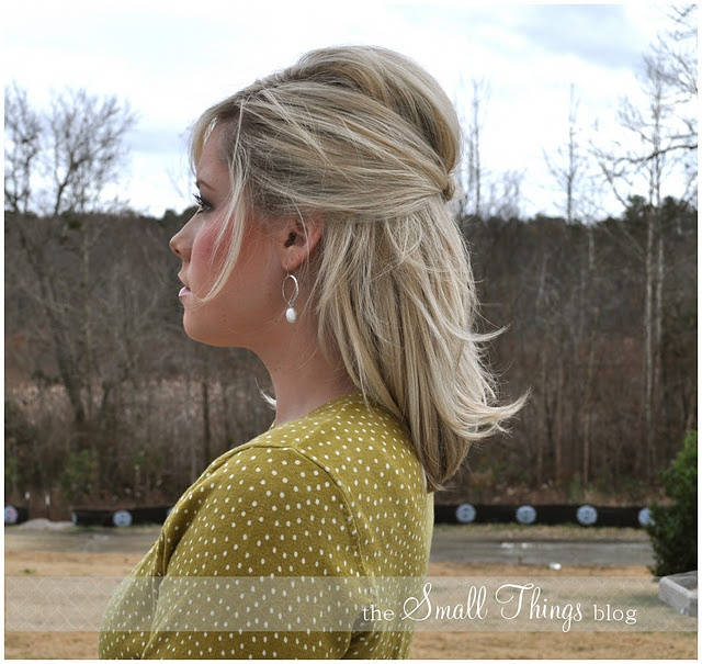 Love!  (Profile view of half-up 'do): Hair Ideas, Small Things Blog, Knotty, Hair Styles, Makeup, Hairstyles Colours, Nice, Hairstyles Neutral, Smallthingsblog