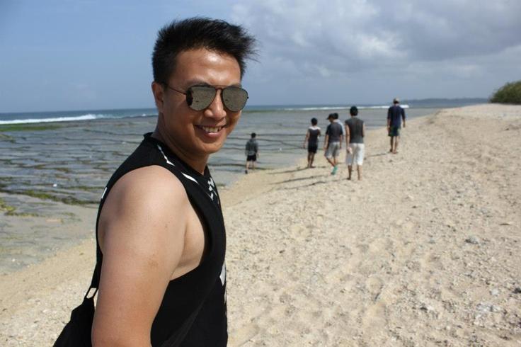 At Ujung Genteng Beach