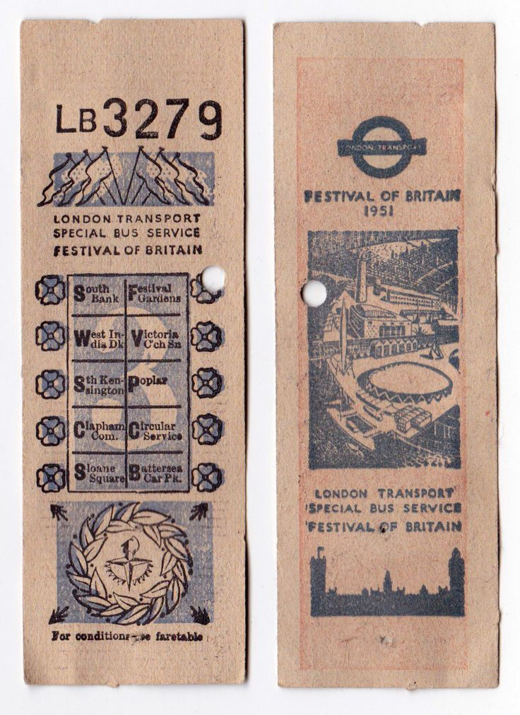 from my extensive collection of three Festival of Britain bus tickets