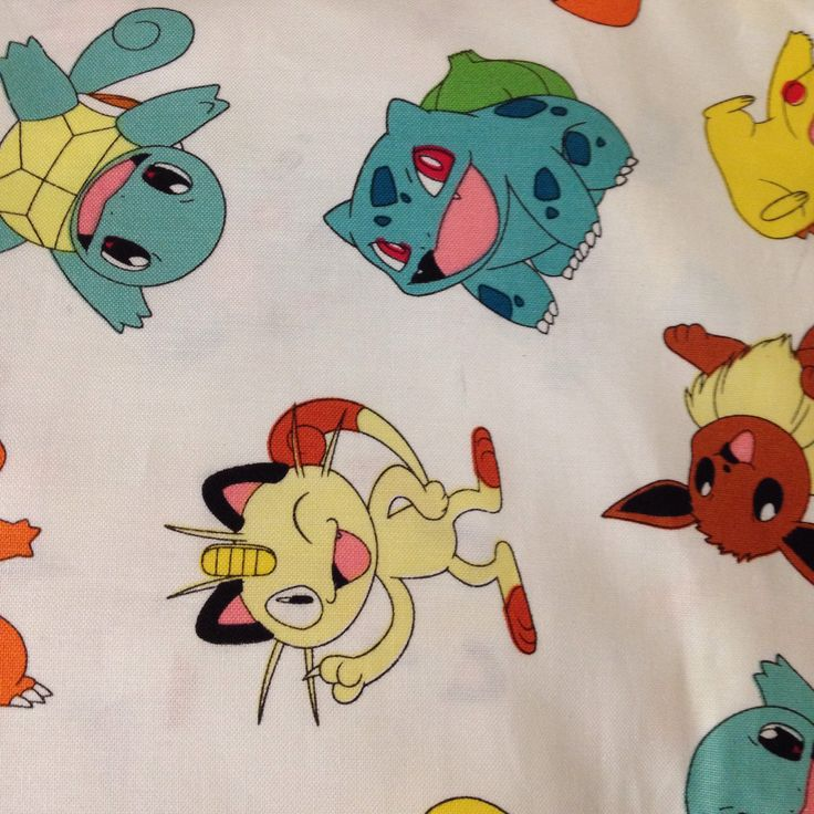 A personal favorite from my Etsy shop https://www.etsy.com/listing/525455399/pokemon-crib-or-toddler-bed-sheet