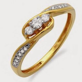 0.25 Carat (ctw) 10k Gold Round Diamond Ladies 3 stone Engagement Promise Ring 1/4 CTStore Diamond Engagement RingDiamond Engagement Ring