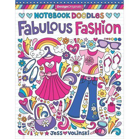 Notebook Doodles Fabulous Fashion, Gray