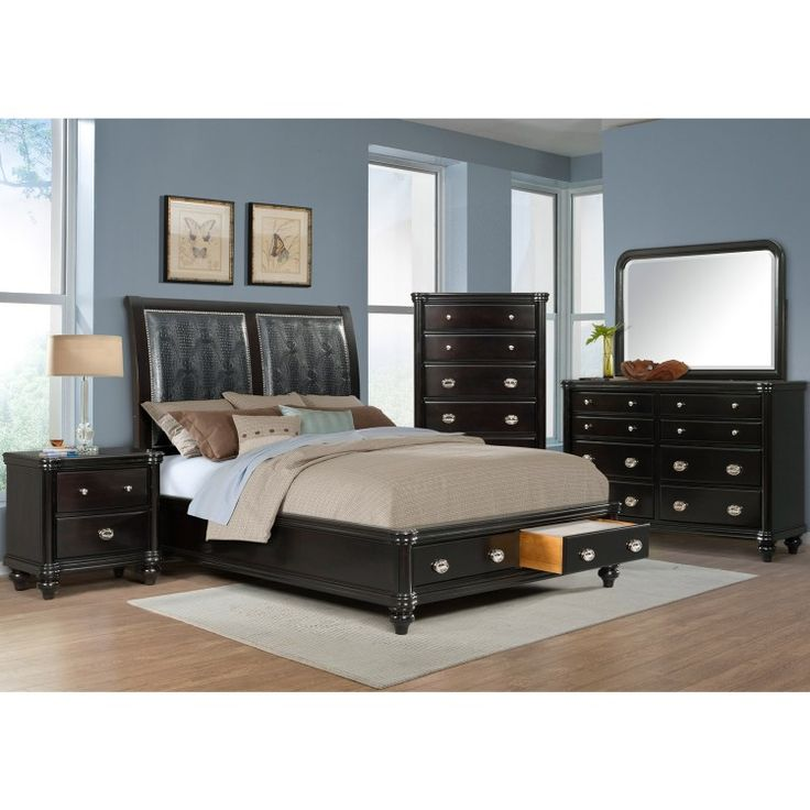The Stunning Westbury Collection Boasts A Lustrous, Faux Alligator Leather  Headboard Accented By A