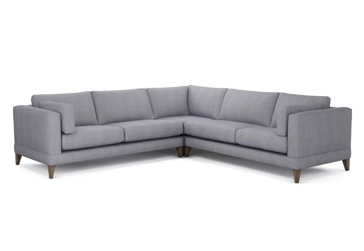The Lounge Co. - Mallory Corner Sofa in Soft Woven Chenille - Wolf Eye  #trend #minimalist #simple #clean #stylish #elegant #interiordesign #interiorinspiration #house #home #homedecor #interior #lounge #livingroom #white #grey #neutral #scandi #trend #sofa #chair #footstool #cushion #upholstery #modern