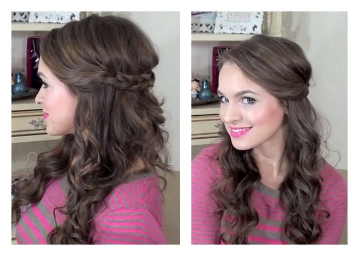 Bridesmaid Hairstyles Down Braid Simple