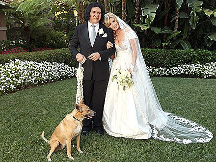 """Celebrity wedding - Gene Simmons & Shannon Tweed...He Said, """"Never""""...But When Shannon Balked, Gene Gave Up His """"Freedom"""" And Made An Honest Woman of His Two Decade Plus Partner & Mother of His Two Children...It's Love!!"""