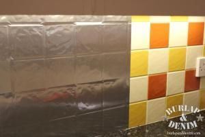 Rental Rehab: 13 Removable DIY Kitchen Backsplashes: Makeover a Boring Tile Backsplash With Contact Paper