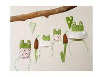 Sommerdeko Froschfamilie 2x Mini - Herz 2x Schilf
