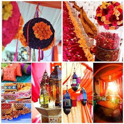 Beautiful Indian wedding flowers, lanterns and decorations #hindu #bollywood party inspiration