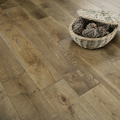 Florence Solid Hand Scraped 120mm Antique Oak Flooring
