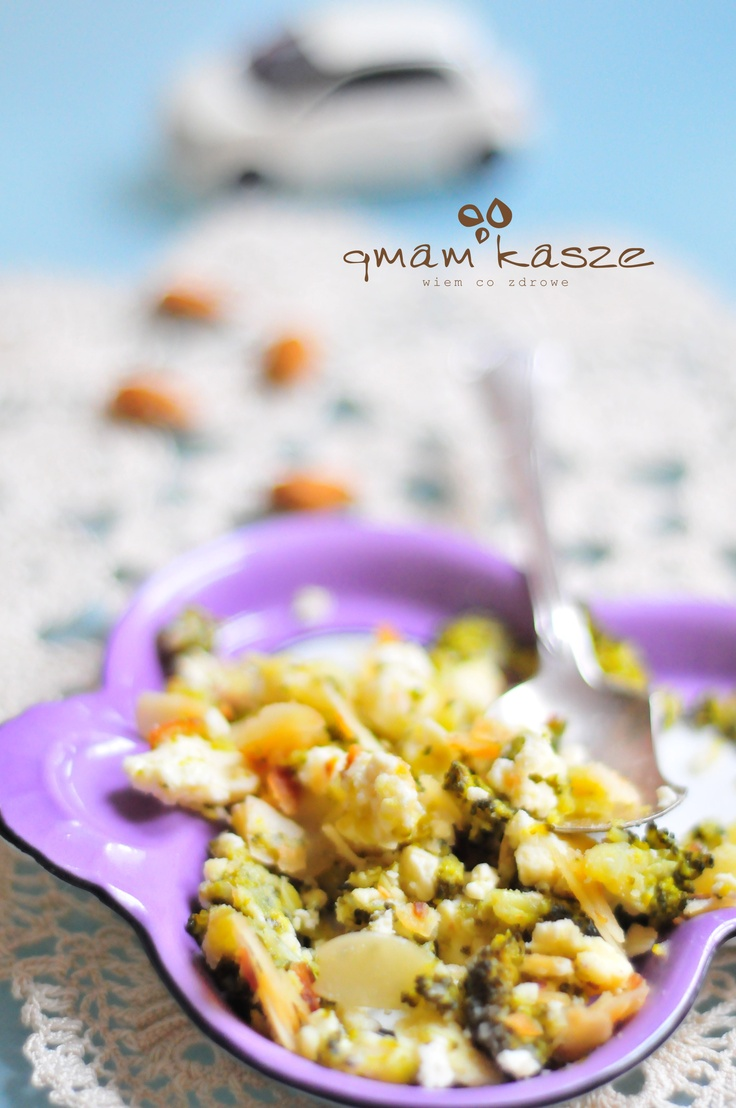 broccoli with original feta cheese & almonds