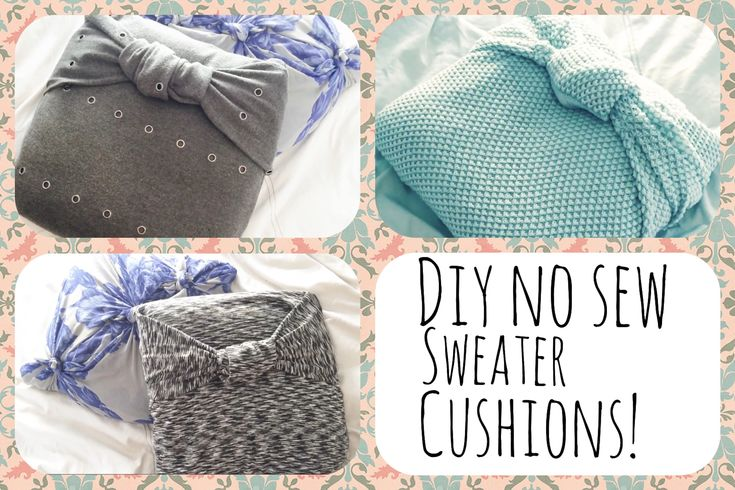 DIY: Free no sew sweater pillow! great and super easy tutorial!!  USE sentimental sweater