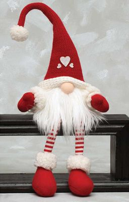 Sitting Tomte with Dangle Legs
