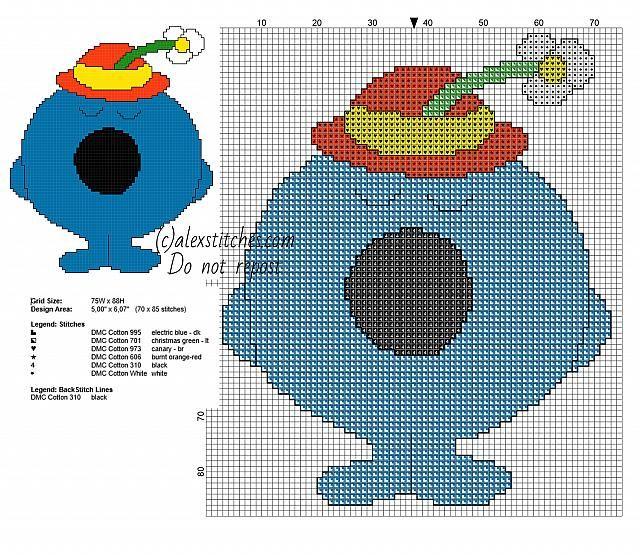 Little Miss Bossy Mr. Men Little Miss characters cross stitch patterns