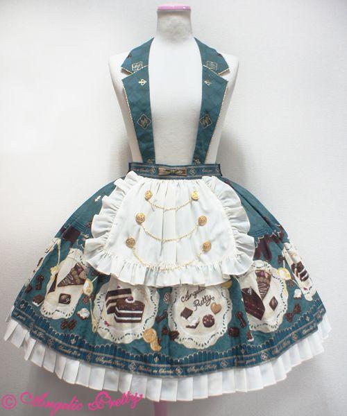 Angelic Pretty Antique Chocolaterie襟付スカート
