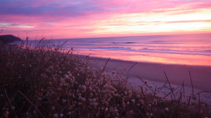 Dawn surf landscapes Gisborne