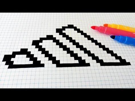 Handmade Pixel Art How To Draw Nike Logo Pixelart Youtube