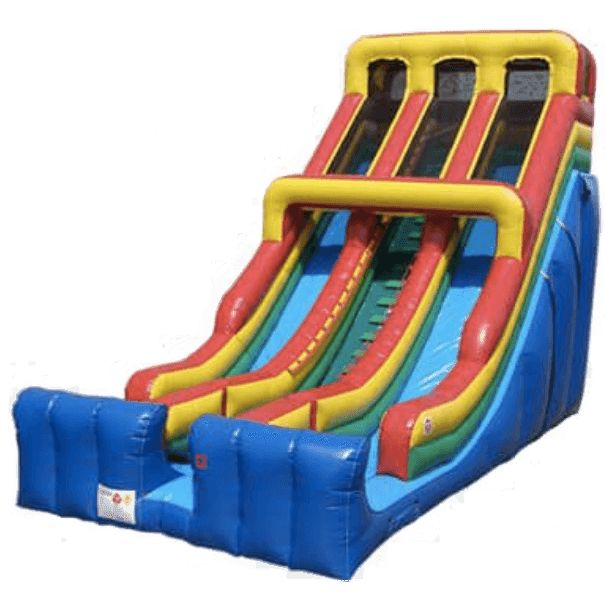 24' Commercial Double Lane Inflatable Slide - Primary Colors #sale #commercialinflatables