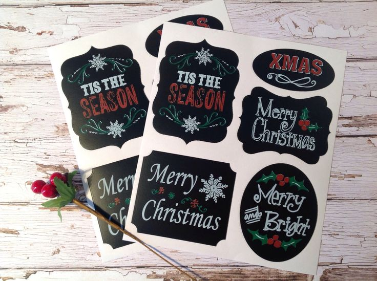 A personal favorite from my Etsy shop https://www.etsy.com/au/listing/259055456/christmas-chalkboard-labels-christmas