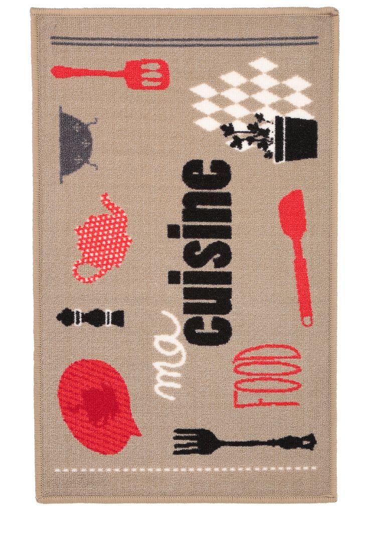 Tapis de cuisine imprimé Ustensiles - Tati