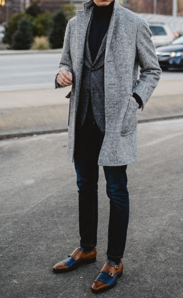 All About the Grey Overcoat - Men's Fashion Inspiration http://www.buzzblend.com