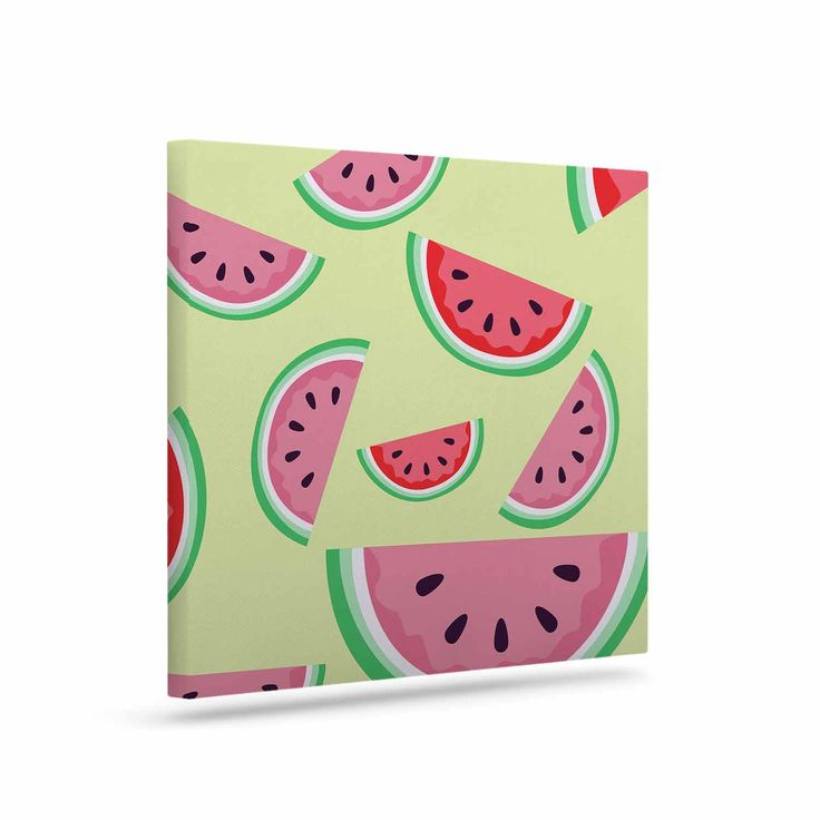 """afe images """"Watermelon Background"""" Pink Food Canvas Art"""