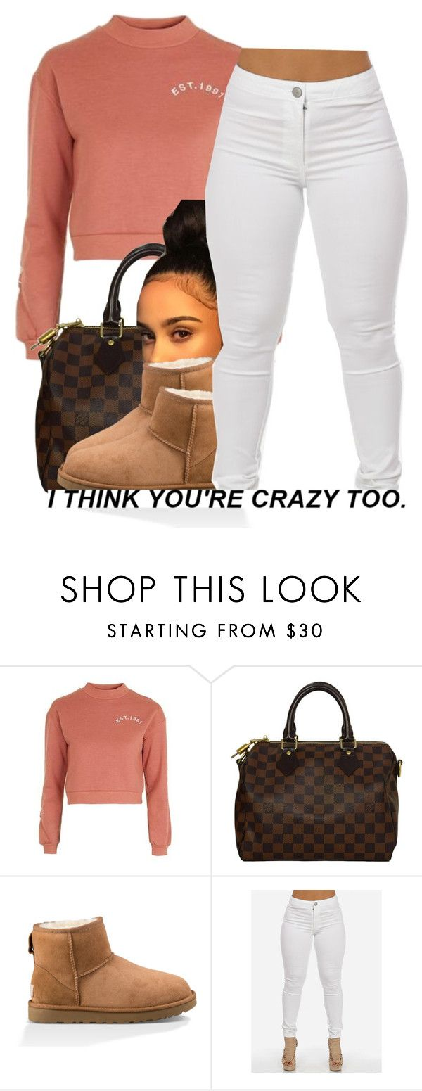 """kisses*"" by trinityannetrinity ❤ liked on Polyvore featuring Topshop, Louis Vuitton and UGG"