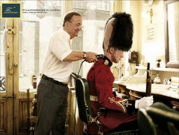 ?: Funny Pics, Funny Pictures, New Haircuts, Funny Commercial, Funny Stuff, London Style, Summertime, Prints Ads, Summer Time