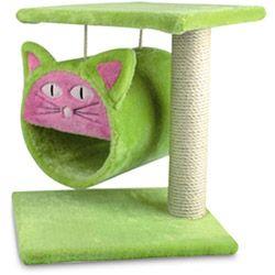 Arranhador para Gatos Verde Luxo Suspenso - Chalesco