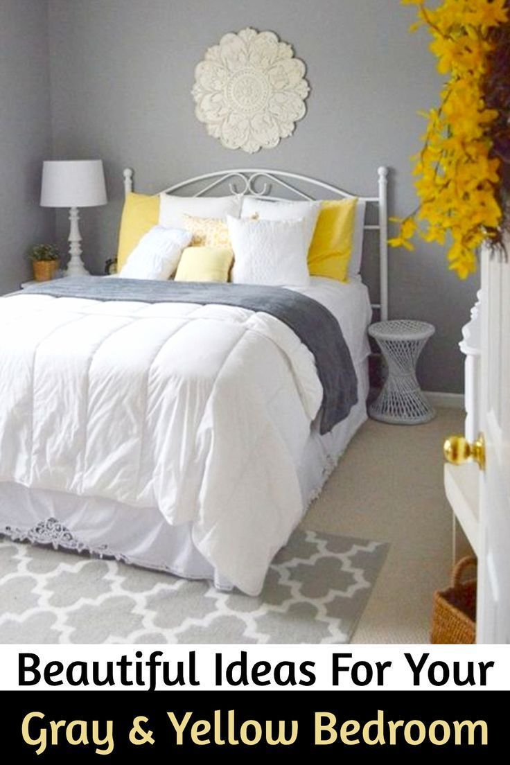 Gray And Yellow Bedroom Ideas Yellow And Grey Bedding Accent