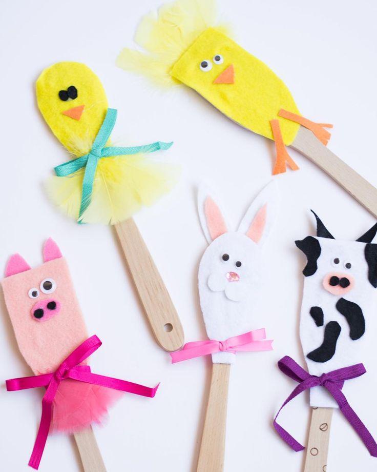 Met de knutselspullen van HEMA tover je zelfs een pollepel om tot iets vrolijks! #HEMA #Pasen #Easter #keuken #knutselen #DIY