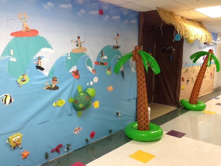 Beach Party Bulletin Board Amp Door D 233 Cor Teacher