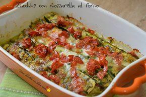 Zucchine+con+mozzarella+al+forno