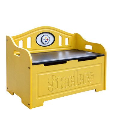 Take a look at this Pittsburgh Steelers Storage Bench by Fan Creations on #zulily today!