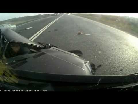female car crash