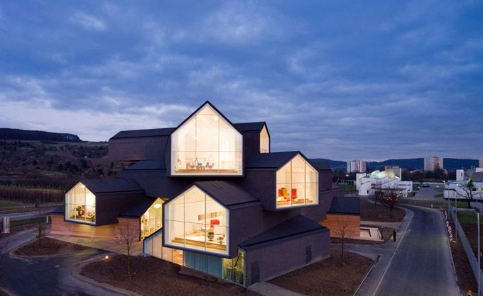 Stacked houses for Vitra