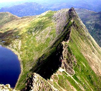 Striding Edge, Helvellyn, Lake District, England