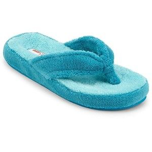 Easy Spirit 174 Soft Terry Thong Slippers Turquoise Terry