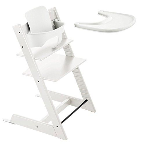 Stokke TRIPP TRAPP with Baby Set and Tray – White by Stokke