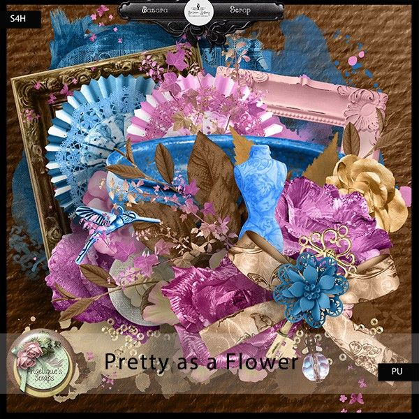 **New** Pretty As A Flower by Angelique's Scraps Available @ http://www.bazarascrap.fr/en/angelique-s-scraps/645-pretty-as-a-flower.html